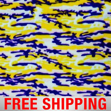 """Purple & Gold Camouflage Fleece Fabric - 60"""" Wide - Style# PT969 - Free Shipping"""