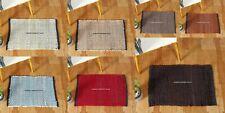 Indoor Mats Cotton Hand Woven Fabric Door Mat Rectangle Washable Floor Decor