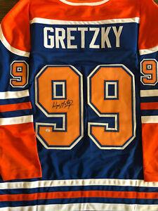 Wayne Gretzky Edmonton Oilers autographed jersey with COA
