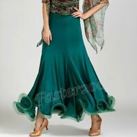 Women Ladies Latin Salsa Flamenco Ballroom Dance Modern Tango Waltz Skirt Dress