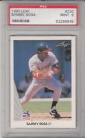 Sammy Sosa 1990 Leaf #220 PSA 8 NM-MT ROOKIE RC Graded Baseball Card
