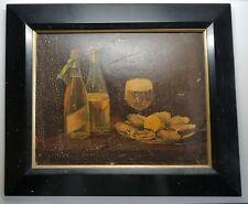 Original c1900 Pre-Pro Pabst Blue Ribbon Advertising Print Oysters & Beer Framed