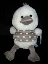 Doudou Peluche Oiseau Canard Poussin écru blanc gris Nicotoy Simba Carrefour
