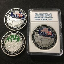 75th Anniversary D-Day Normandy, France Operation Overlord Challenge Coin