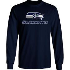 Seattle Seahawks Long T-Shirt Graphic Men Cotton SEA