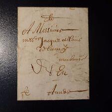 """1681 LETTRE COVER MARQUE POSTALE """"PL"""" MANUSCRIT (PORT DE LILLE) POUR ANVERS"""