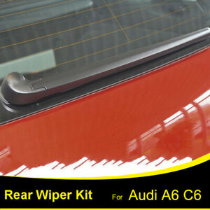 XUKEY Tailgate Rear Windshield Wiper Arm Blade Set Kit For Audi A6 4F C6 04- 14""