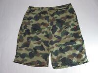 21000 bape one point 1st camo beach pants green XXL