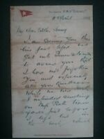 TITANIC LETTER WRITTEN ON BOARD THE SHIP BEFORE THE DISASTER 1912 ,  LIVERPOOL