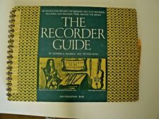 vintage The RECORDER GUIDE Instruction for Recorders