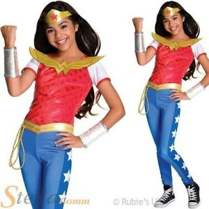 fille de luxe WONDER WOMAN SUPER HÉROS DC COMICS enfant costume déguisement