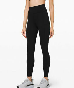 """Lululemon Women's Asia Fit Fast and Free High-Rise Tight 24"""" In Black"""