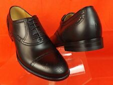 NIB GUCCI BLACK BETIS DERBY LEATHER WINGTIP PERFORATED OXFORDS 10 11 # 312279
