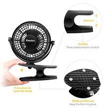EasyAcc 720° Rotation Clip Desk Fan Mini USB Personal Cooling Fan