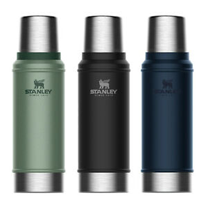 New STANLEY Classic Vacuum Insulated 750ml Bottle Thermos Flask Black Green Navy