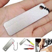 USA Outdoor EDC Mini Diamond Knife Sharpener Pocket Fish Nail Hook file Keychain