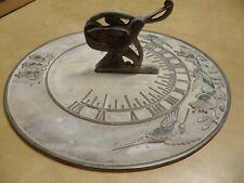 "Flora & Fauna Garden Signature Series Hummingbird 11"" Brass Sundial"