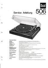 Service Manual-Anleitung für Dual 506