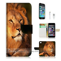 ( For iPhone 6 / 6S ) Wallet Case Cover P0356 Lion