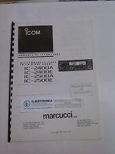 MANUALE IN ITALIANO istruzioni d'uso per ICOM IC-2400A
