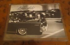 Clint Hill Secret Service Kennedy signed autographed 5 x 7 photo zapruder film