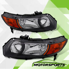 For 2006-2011 Honda Civic Coupe 2dr Black Factory Style Headlights Pair