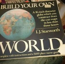 "Build Your Own World 16"" Diameter Globe by I.J. Starworth 1982"