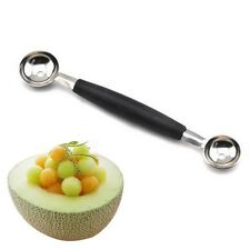 Home Kitchen Tool Fruit Melon Scoop Baller Double Spoon Stainless