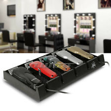Salon Barer Clipper Tray Black Clippers Organizer Case with 5 Notch Hairdresser