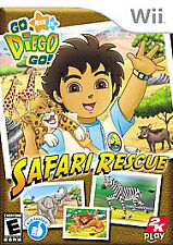 Go, Diego, Go Safari Rescue (Nintendo Wii, 2008) COMPLETE WITH MANUAL