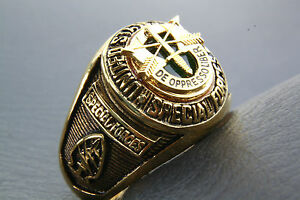 Ring Men's Us Special Forces Gold Plated Military Seal 352