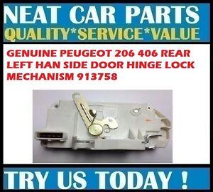 DOOR LOCK MECHANISM REAR LH FOR PEUGEOT 206 406 SALOON ESTATE 913758 GENUINE