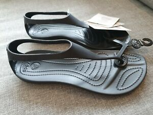 Crocs sexi flip black BNWT uk4 eur 36-37 standard fit
