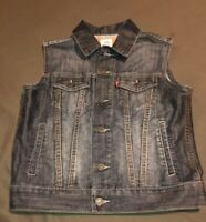 Levis Kids Unisex Trucker Jean Jacket Vest  Blue Small 8-10 years Nice