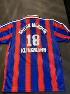 Original Vintage FC Bayern München Jürgen Klinsmann Trikot Größe S 1996 FCB
