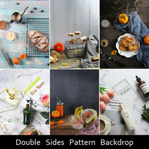 Double Sides Wood-Pattern Photography Backdrop Background Paper For Food Baking