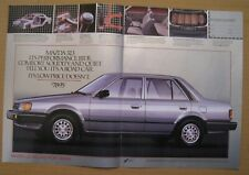 1986Mazda 323 Deluxe Sport Sedan Color 2-pages Ad