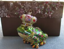 Jay Strongwater Frog Prince Ornament Swarovski Elements New in Box