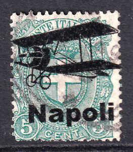 ITALY SCARCE NAPOLI BIPLANE OVERPRINT COLLECTION LOT #5 SOUND