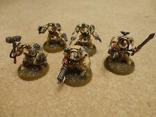 Warhammer 40k: Dark Angels. 5x Deathwing Terminator squad, expertly painted
