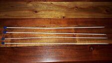 Lot de 2 AIGUILLES à tricoter anciennes 2.5 et 3 en métal 40 cm de long