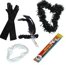 LADIES 20'S CHARLESTON FLAPPER FANCY DRESS GATSBY 1920S COSTUME ACCESSORIES SET