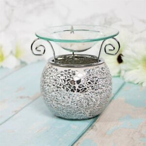 Desire Aroma Silver Mosaic Wax Melt & Oil Burner Warmer Aroma Fragrance LP47255