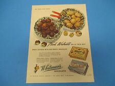 1944 Print Ad, Whitman's Chocolates, Whitman's chocolate covered walnuts , PA014