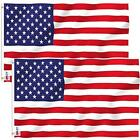 ANLEY Pack of 2 Fly Breeze 3x5 Foot American US Polyester Flag - Vivid Color and