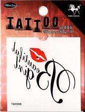 Temporary Tattoo Lips Beautiful Girl Removable Body Art TM0998