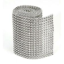 18-row Darice BLING ON A ROLL - SILVER Mesh Ribbon - 3 In x 1 Yard