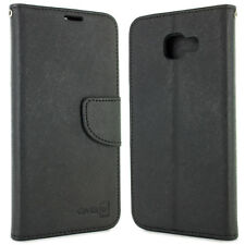 Black Flip Wallet Cover Folio Case For Samsung Galaxy A7 2016 A710 + Screen