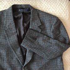 BROOKS BROTHERS Harris Tweed Brown/Green Gray Wool Jacket Sportcoat Blazer 46R
