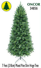 7ft Eco-Friendly Oncor Slim Mixed Pine Christmas Tree